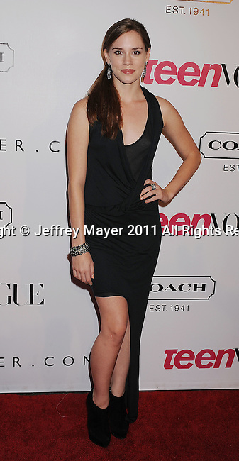 HOLLYWOOD, CA - SEPTEMBER 23: Christa B. Allen arrives at the 9th Annual Teen Vogue Young Hollywood Party at Paramount Studios on September 23, 2011 in Hollywood, California.