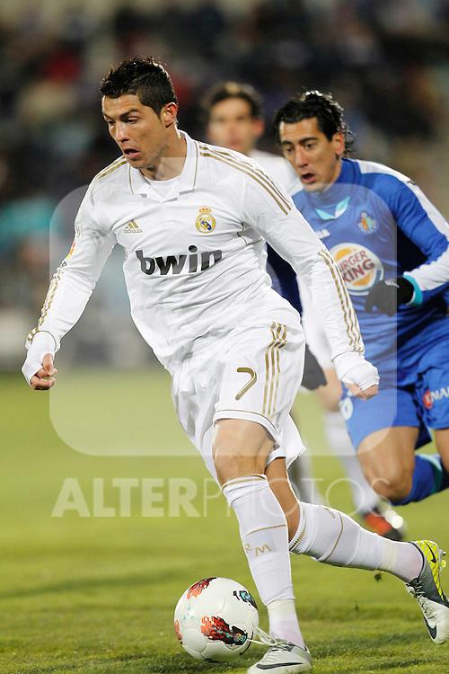 Real Madrid's Cristiano Ronaldo during la Liga match on February 4th 2012. ..Photo: Cesar Cebolla / ALFAQUI