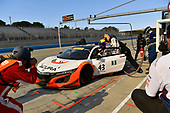 Pirelli World Challenge<br /> Intercontinental GT Challenge California 8 Hours<br /> Mazda Raceway Laguna Seca<br /> Sunday 15 October 2017<br /> Ryan Eversley, Tom Dyer, Dane Cameron, Acura NSX GT3, GT3 Overall pit stop.<br /> World Copyright: Richard Dole<br /> LAT Images<br /> ref: Digital Image RD_PWCLS17_352