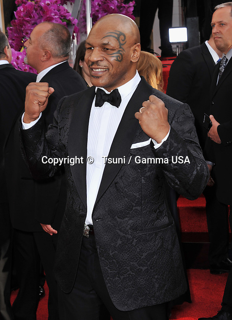 Mike Tyson 246 at the 2014 Golden Globes Awards at the Beverly Hilton in Los Angeles.