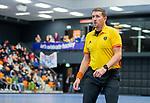 ROTTERDAM  - NK Zaalhockey,   halve finale heren Oranje Rood-SCHC (SCHC wint en plaatst zich voor de finale) . scheidsrechter Bart de Liefde   COPYRIGHT KOEN SUYK