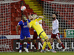 George Long of Sheffield Utd collects the ball under pressure - FA Cup Second round - Sheffield Utd vs Oldham Athletic - Bramall Lane Stadium - Sheffield - England - 5th December 2015 - Picture Simon Bellis/Sportimage