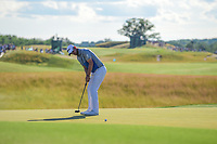 Bernd Wiesberger (AUT) watches his putt on 18 during Sunday's round 4 of the 117th U.S. Open, at Erin Hills, Erin, Wisconsin. 6/18/2017.<br /> Picture: Golffile | Ken Murray<br /> <br /> <br /> All photo usage must carry mandatory copyright credit (&copy; Golffile | Ken Murray)