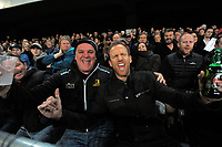 Fans celebrate during the Rugby Championship and Bledisloe Cup rugby match between the New Zealand All Blacks and Australia Wallabies at Forsyth Barr Stadium in Dunedin, New Zealand on Saturday, 26 August 2017. Photo: Dave Lintott / lintottphoto.co.nz