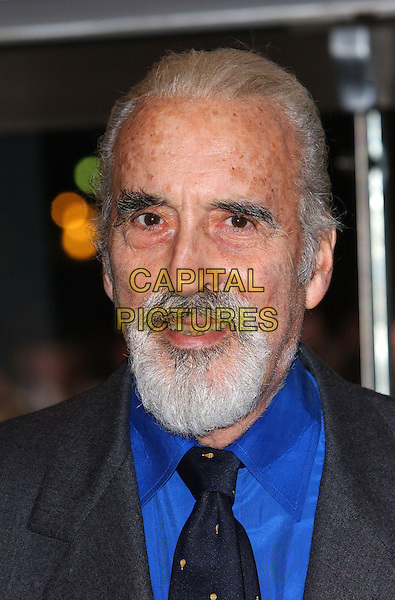 "CHRISTOPHER LEE.""Finding Neverland"" UK charity premiere.Odeon, Leicester Square.London 17 October 2004..portrait headshot.Ref: FIN.www.capitalpictures.com.sales@capitalpictures.com.©Steve Finn/Capital Pictures ."