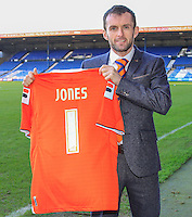 New Luton Town Manager Nathan Jones during an Open Media session at Kenilworth Road, Luton, England on 8 January 2016. Photo by Liam Smith / PRiME Media Images