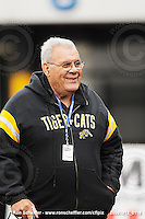 October 12, 2009; Hamilton, ON, CAN; Hamilton Tiger-Cats legend Angelo Mosca. CFL football: Winnipeg Blue Bombers vs. Hamilton Tiger-Cats at Ivor Wynne Stadium. The Blue Bombers defeated the Tiger-Cats 38-28. Mandatory Credit: Ron Scheffler. Copyright (c) 2009 Ron Scheffler.