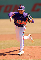Clemson RHP Graham Stoneburner at Shea Field March 28, 2009 in Chestnut Hill, MA (Photo by Ken Babbitt/Four Seam Images)