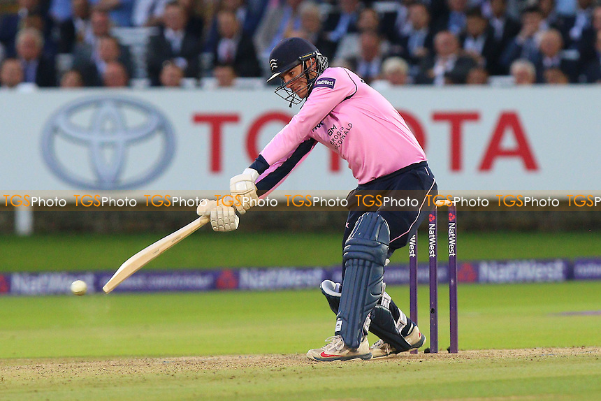 Toby Roland-Jones in batting action for Middlesex during Middlesex vs Essex Eagles, NatWest T20 Blast Cricket at Lord's Cricket Ground on 28th July 2016