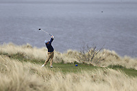 Cian Geraghty (Laytown &amp; Bettystown) during the first round of matchplay at the 2018 West of Ireland, in Co Sligo Golf Club, Rosses Point, Sligo, Co Sligo, Ireland. 01/04/2018.<br /> Picture: Golffile | Fran Caffrey<br /> <br /> <br /> All photo usage must carry mandatory copyright credit (&copy; Golffile | Fran Caffrey)