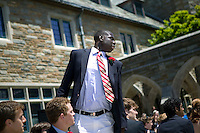 Eric Boateng (C) rises to collect his diploma during his final year Commencement ceremony at St Andrews High School in Middletown, DE, United States, 29 May 2005.