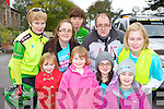 Little Ava Diggin at the cycle in her honor in Killorglin on Saturday l-r: Nina, Ava, Alicia, cora Diggin. Back row: Nora Looney, Emer Diggin, Jonathan diggin, Mary O'Sullivan  the Cycle for Crumlin Childrens Hospital in Killorglin on Sunday
