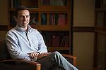 Ohio University Economics faculty member, Luke Fitzpatrick, poses at Bentley Annex on October 19, 2016.