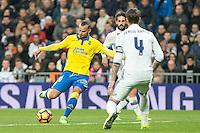 Jese Rodriguez of UD Las Palmas  during the match of Spanish La Liga between Real Madrid and UD Las Palmas at  Santiago Bernabeu Stadium in Madrid, Spain. March 01, 2017. (ALTERPHOTOS / Rodrigo Jimenez) /NORTEPHOTOmex
