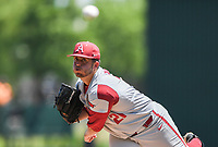 NWA Democrat-Gazette/CHARLIE KAIJO Arkansas pitcher Kacey Murphy (21) throws a pitch during the second game of the NCAA super regional baseball, Sunday, June 10, 2018 at Baum Stadium in Fayetteville. Arkansas fell to South Carolina 5-8.