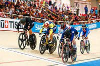 Picture by Alex Whitehead/SWpix.com - 10/12/2017 - Cycling - UCI Track Cycling World Cup Santiago - Velódromo de Peñalolén, Santiago, Chile - USA's Madalyn Godby wins Gold in the Women's Keirin final.