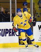 John Klingberg (Sweden - 6) - The Merrimack College Warriors defeated the visiting Sweden Under 20 team 4-1 on Tuesday, November 2, 2010, at Lawler Arena in North Andover, Massachusetts.