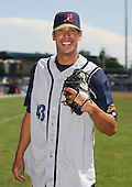 2007:  Dustin Molleken of the State College Spikes poses for a photo prior to a game vs. the Batavia Muckdogs in New York-Penn League baseball action.  Photo copyright Mike Janes Photography 2007.