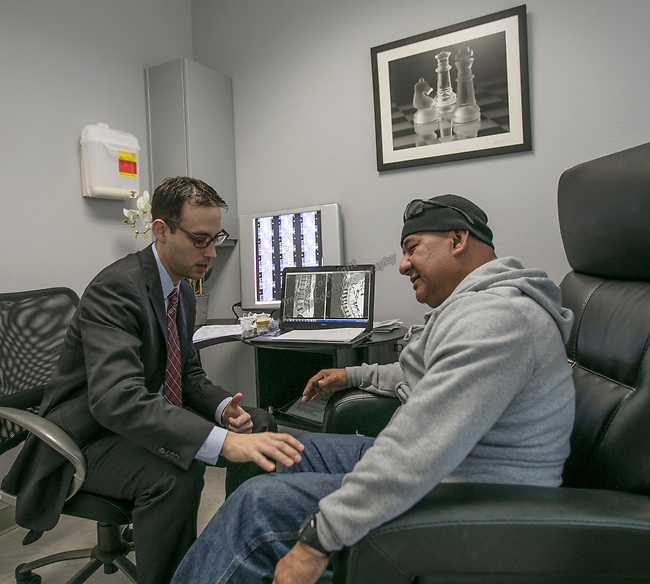 Dr. Shane Adbunnur at the Spine Nevada office in Reno on March 7, 2017.