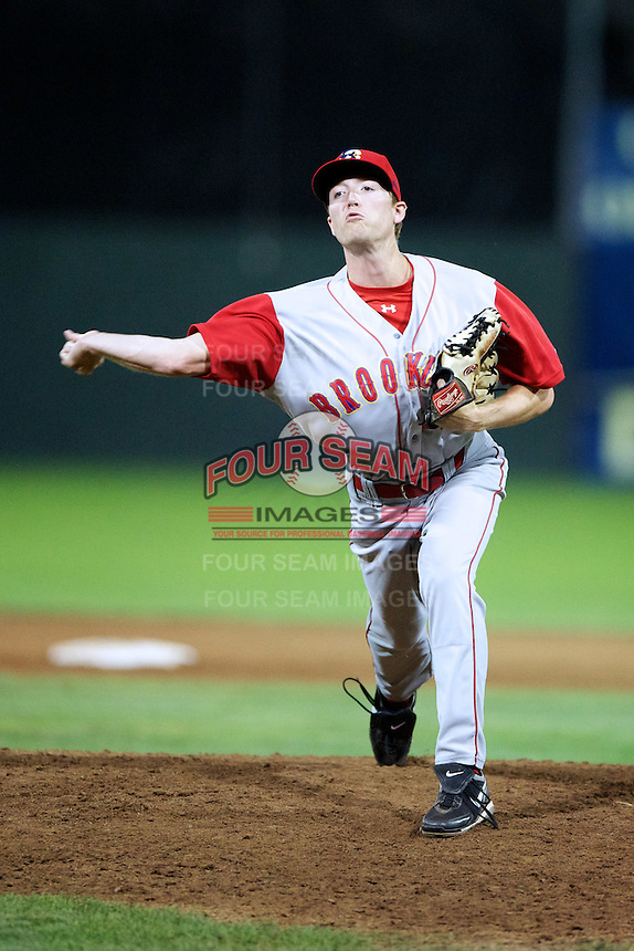 Brooklyn Cyclones pitcher Tyler Vanderheiden #47 during a game against the Batavia Muckdogs at Dwyer Stadium on July 27, 2012 in Batavia, New York.  Batavia defeated Brooklyn 2-0.  (Mike Janes/Four Seam Images)