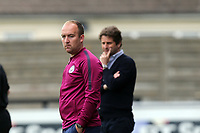 Manchester City women manager Nick Cushing and Arsenal Women manager Joe Montemurro during Arsenal Women vs Manchester City Women, FA Women's Super League FA WSL1 Football at Meadow Park on 12th May 2018