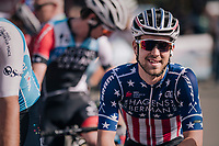 US National Champion Jonny Brown (USA/Hagens Berman Axeon) at the race start<br /> <br /> 59th Grand Prix de Wallonie 2018 <br /> 1 Day Race from Blegny to Citadelle de Namur (BEL / 206km)