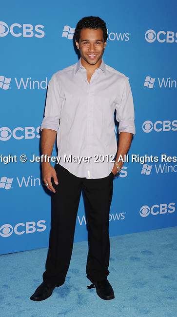 WEST HOLLYWOOD, CA - SEPTEMBER 18: Corbin Bleu arrives at the CBS 2012 fall premiere party at Greystone Manor Supperclub on September 18, 2012 in West Hollywood, California.