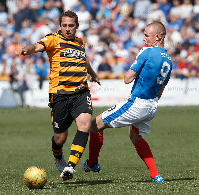 Michael Chopra and Kenny Miller