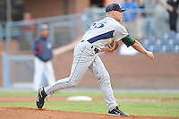 Lexington Legends Mike Foltynewicz #25 delivers a pitch during a game against  the Asheville Tourists at McCormick Field in Asheville,  North Carolina;  April 18, 2011. Asheville defeated Lexington 4-1.  Photo By Tony Farlow/Four Seam Images