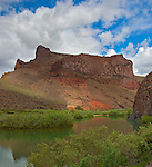 Malheur County, OR<br /> Rock cliffs standing above the Oyhee River