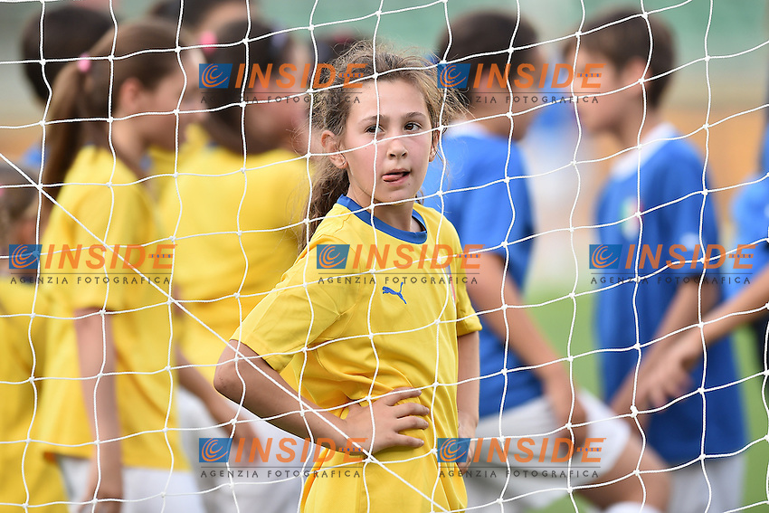 Girls play football. Bambine giocano a pallone <br /> Verona 06-06-2016 Stadio Bentegodi Football Friendly Match Italia - Finlandia / Italy - Finland . Foto Andrea Staccioli / Insidefoto