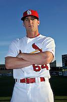 Mar 01, 2010; Jupiter, FL, USA; St. Louis Cardinals outfielder Shane Robinson (64) during  photoday at Roger Dean Stadium. Mandatory Credit: Tomasso De Rosa/ Four Seam Images