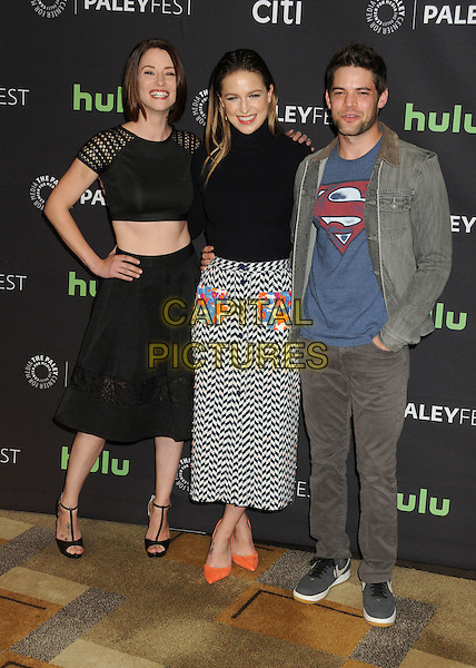 13 March 2016 - Hollywood, California - Chyler Leigh, Melissa Benoist, Jeremy Jordan. 33rd Annual PaleyFest - &quot;Supergirl&quot; held at the Dolby Theatre. <br /> CAP/ADM/BP<br /> &copy;BP/ADM/Capital Pictures