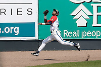 July 6, 2008:  Everett AquaSox outfielder Ryan Royster chases a long fly ball onto the warning track during a Northwest League game against the Yakima Bears at Everett Memorial Stadium in Everett, Washington.