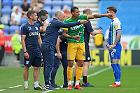 Preston North End manager Alex Neil talks tactics with Lukas Nmecha<br /> <br /> Photographer David Shipman/CameraSport<br /> <br /> The EFL Sky Bet Championship - Wigan Athletic v Preston North End - Monday 22nd April 2019 - DW Stadium - Wigan<br /> <br /> World Copyright © 2019 CameraSport. All rights reserved. 43 Linden Ave. Countesthorpe. Leicester. England. LE8 5PG - Tel: +44 (0) 116 277 4147 - admin@camerasport.com - www.camerasport.com