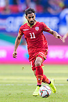 Ali Jaafar Madan of Bahrain runs with the ball during the AFC Asian Cup UAE 2019 Group A match between Bahrain (BHR) and Thailand (THA) at Al Maktoum Stadium on 10 January 2019 in Dubai, United Arab Emirates. Photo by Marcio Rodrigo Machado / Power Sport Images