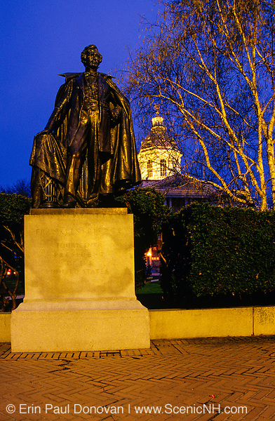 Franklin Pierce Statue at the State Capitol Building.Located in Concord, New Hampshire,USA