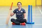 This image is FREE to use in all accredited media, courtesy of Cricket Scotland - Scotland's Minister of Health and Sport (today 24th Jan) tried her hand at cricket with the Captain and opening bat of Scotland's women's national team. The women's squad are currently preparing for an ICC Global Qualifier in Sri Lanka and will depart on Sunday for two warm-up games against Ireland in Dubai ahead of the Qualifiers in two weeks time. Scotland will face some tough opposition at the ICC Global Qualifier where they will face South Africa (8 February), Bangladesh (10 February), Papa New Guinea (11 February) and Pakistan (13 February) - picture shows Scotland opening bat Oli Rae at Fettes School (with some of the school's girls cricketers) - for further information please contact Ben Fox, Cricket Scotland on 0131 313 7420 or at benfox@cricketscotland.com - picture by Donald MacLeod - 24.01.2017 - 07702 319 738 - clanmacleod@btinternet.com - www.donald-macleod.com