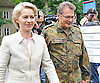 "august 03-16, Defense Minister Ursula von der Leyen during a visit to the Berlin-based ""Command Cent"