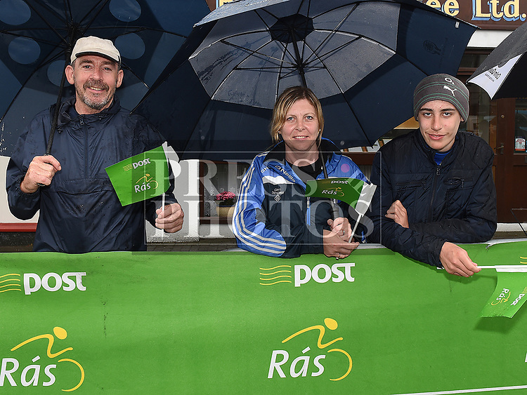 Paddy, Anna-marie and Paddy Holcroft at Stage seven of An Post Rás 2017 in Ardee. Photo:Colin Bell/pressphotos.ie