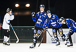 Uppsala 2015-02-28 Bandy Elitseriekval IK Sirius - Gripen Trollh&auml;ttan BK :  <br /> Sirius Mattias Hammarstr&ouml;m jublar efter sitt 3-2 m&aring;l p&aring; straff under matchen mellan IK Sirius och Gripen Trollh&auml;ttan BK <br /> (Foto: Kenta J&ouml;nsson) Nyckelord:  Bandy Elitserien Elitseriekval Kval Kvalserien Uppsala Studenternas IP IK Sirius IKS Gripen Trollh&auml;ttan jubel gl&auml;dje lycka glad happy