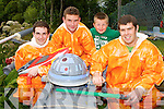 Astronauts Shane Fogarty, Darie Foley, Josh Lynch, Michael Dwane with their space aged raft at the Astella's raft race in Killrglin on Friday ..