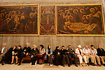 Israel, Jerusalem Old City, pilgrims at the Katholikon, the Church of the Holy Sepulchre on Good Friday. Easter 2005<br />