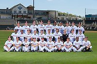 The 2016 Kannapolis Intimidators pose for a team photo at Kannapolis Intimidators Stadium on April 5, 2016 in Kannapolis, North Carolina.  (Brian Westerholt/Four Seam Images)
