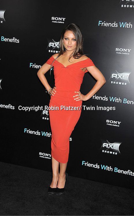 "Mila Kunis attending the New York Premiere of ""Freinds With Benefits"" on July 18, 2011 at The Ziegfeld Theatre in New York City. The movie stars Justin Timberlake, Mila Kunis, Emma Stone, Patricia Clarkson, Jenna Elfman and Bryan Greenberg."