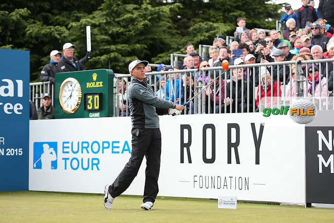 Rickie Fowler (USA) on the first tee for Round Three of the 2015 Dubai Duty Free Irish Open Hosted by The Rory Foundation at Royal County Down Golf Club, Newcastle County Down, Northern Ireland. 30/05/2015. Picture David Lloyd | www.golffile.ie