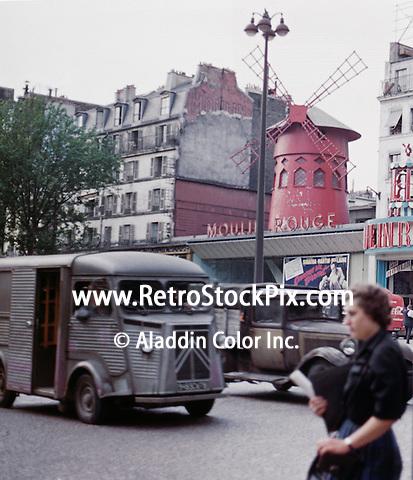 Moulon Rouge Nightclub in France. 1958