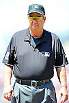 20 May 2012: Umpire Joe West officiates at first base during a game between the Baltimore Orioles and the Washington Nationals at Nationals Park in Washington, DC. The Nationals defeated the Orioles 9-3 to salvage the third game of their 3-game series. Mandatory Credit: Ed Wolfstein Photo