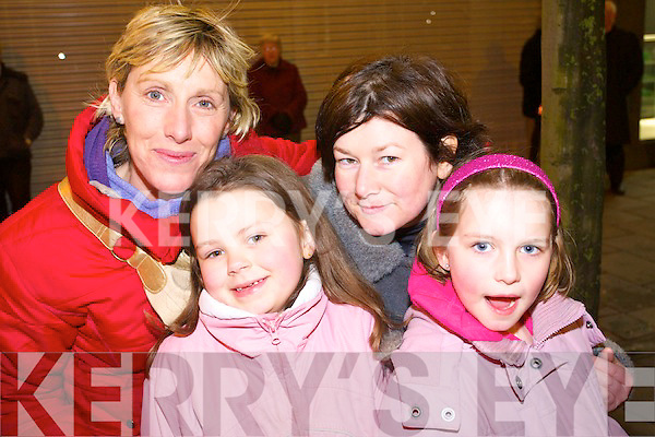 ENJOYING: Pictured at the Samhlaiocht parade on Sunday evening were Mary O'Regan, Clodagh O'Connor, Bridget O'Connor and Roisin O'Regan.   Copyright Kerry's Eye 2008