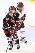 Gina McDonald (Harvard - 10), Dru Burns (BC - 7) - The Boston College Eagles defeated the Harvard University Crimson 3-1 to win the 2011 Beanpot championship on Tuesday, February 15, 2011, at Conte Forum in Chestnut Hill, Massachusetts.